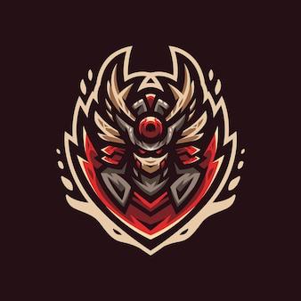 Modèle de conception de logo de sport geisha