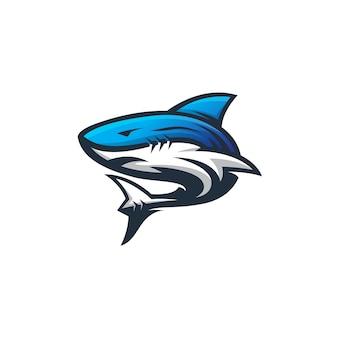 Modèle de conception de logo de sport de requin moderne abstrack