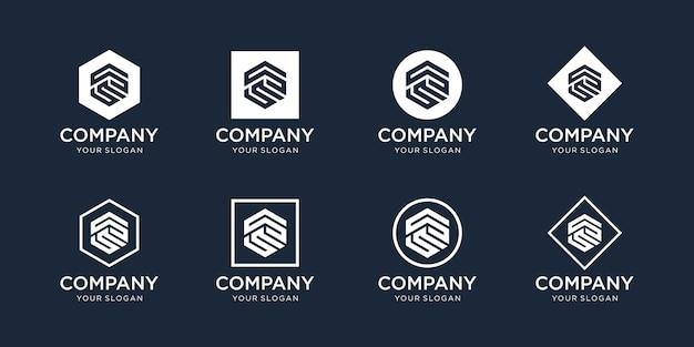 Modèle de conception de logo ss initiales