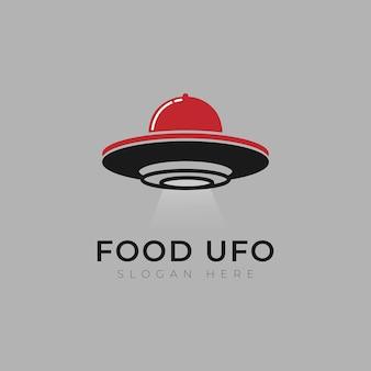 Modèle de conception de logo de station spatiale alimentaire