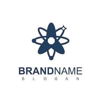 Modèle de conception de logo de technologie atom