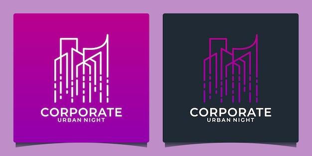 Modèle de conception de logo de technologie de construction créative