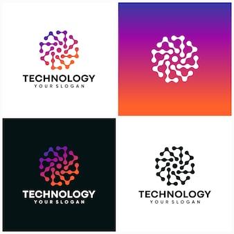 Modèle de conception de logo de technologie