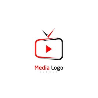 Modèle de conception de logo de télévision