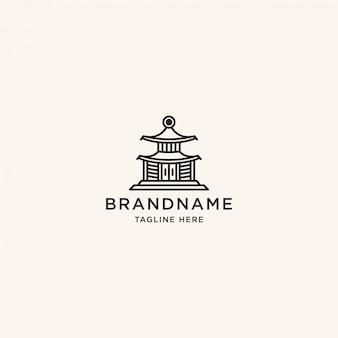 Modèle de conception de logo de temple