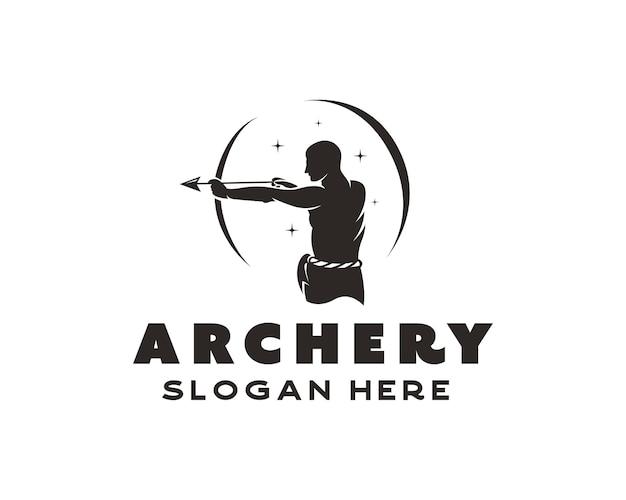 Modèle de conception de logo de tir à l'arc