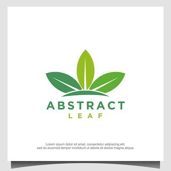 Modèle de conception de logo à trois feuilles