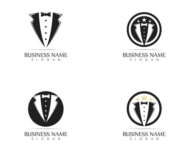 Modèle de conception de logo tuxedo