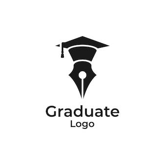 Modèle de conception de logo d'université, d'académie, d'école, de cours et de remise des diplômes