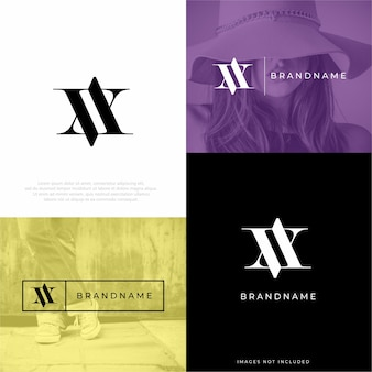 Modèle de conception de logo va av