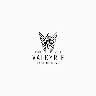 Modèle de conception de logo valkyrie