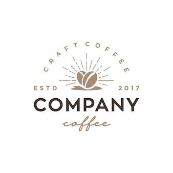 Modèle de conception de logo vectoriel café vintage / rétro