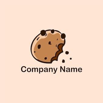Modèle de conception de logo vectoriel de cookies