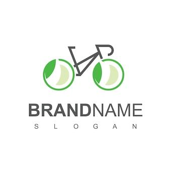 Modèle de conception de logo de vélo écologique
