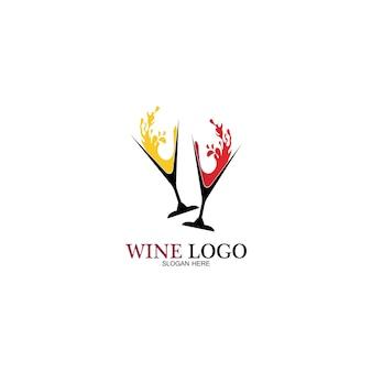 Modèle de conception de logo de vin. illustration vectorielle de l'icône-vecteur