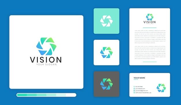 Modèle de conception de logo vision