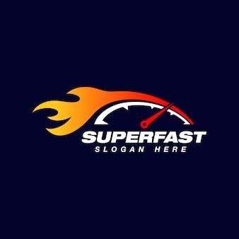 Modèle de conception de logo de vitesse de voiture