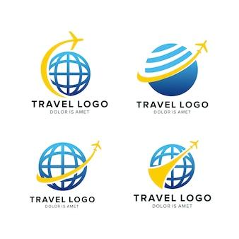 Modèle de conception de logo de voyage