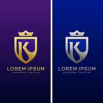 Modèle de conception de luxe lettre k concept illustration vectorielle