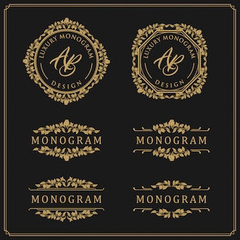 Modèle de conception de luxe pour mariage et décoration