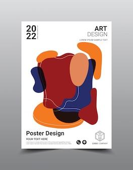Modèle de conception de magazine affiche créative. abstrait cool