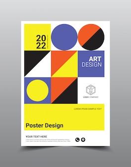 Modèle de conception de magazine affiche créative.