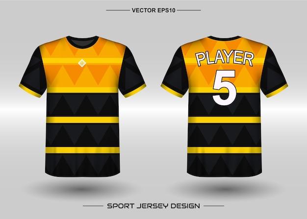 Modèle de conception de maillot de sport pour l'équipe de football