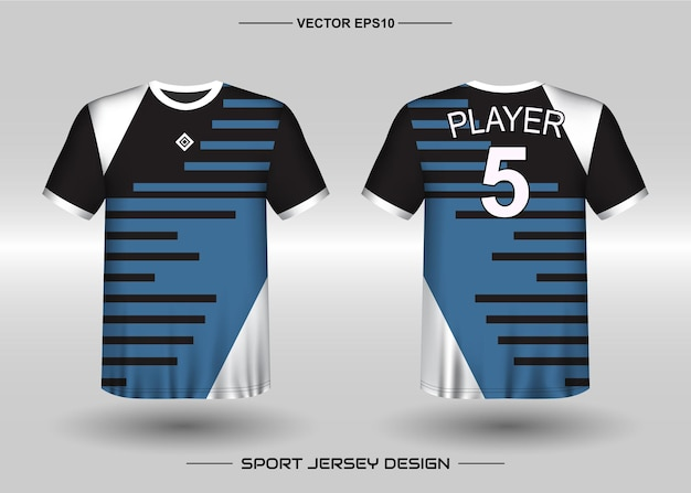 Modèle de conception de maillot de sport pour équipe de football