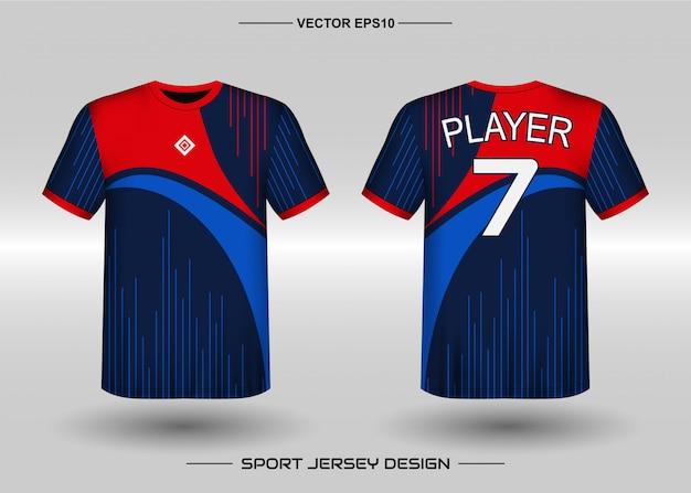 Modèle De Conception De Maillot De Sport Pour L'équipe De Football Vecteur Premium