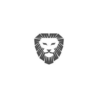 Modèle de conception de mascotte emblème tête de lion illustration