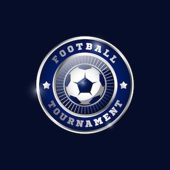 Modèle de conception de médaille métallique de football 01