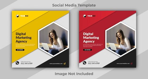 Modèle de conception de médias sociaux d'entreprise ou d'entreprise