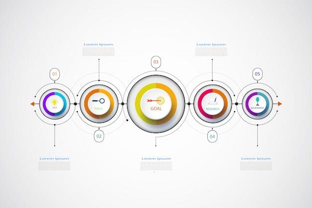 Modèle de conception métier infographie vectorielle