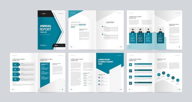 Modèle de conception de mise en page de brochure commerciale