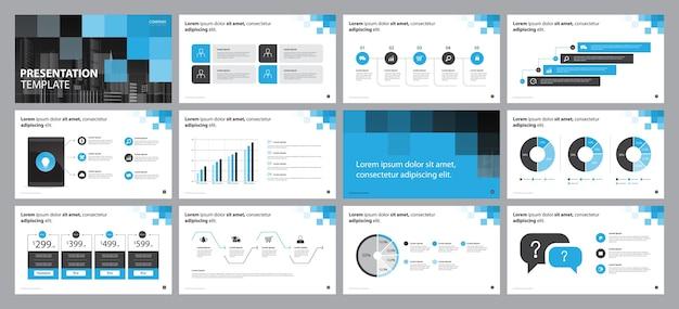 Modèle de conception de mise en page de présentation commerciale