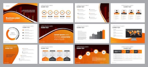 Modèle de conception de mise en page de présentation d'entreprise