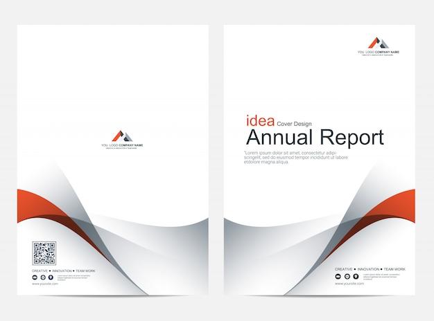 Modèle de conception de mise en page de rapport annuel de couverture