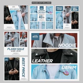 Modèle de conception de mode social médias instagram post post premium vector