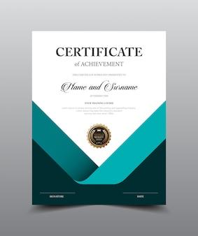 Modèle de conception de modèle de certificat, luxe et style moderne, oeuvre d'illustration vectorielle.