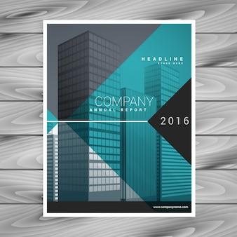 Modèle de conception moderne prospectus brochure professionnelle bleu