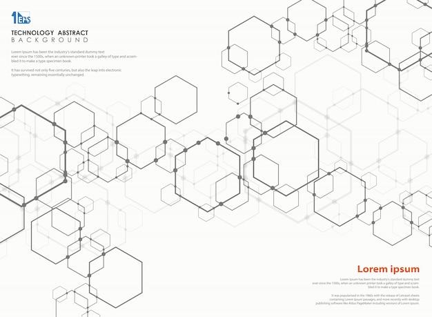 Modèle de conception moderne de technologie pentagone.