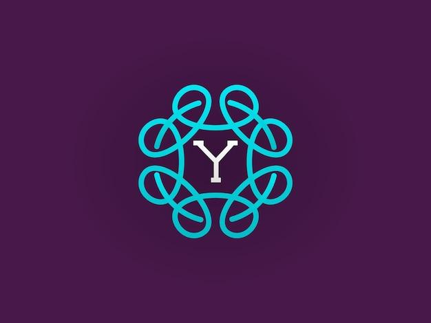 Modèle de conception de monogramme ou d'icône compact avec une illustration vectorielle de lettre de qualité premium élégante