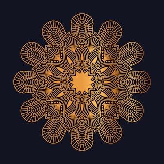 Modèle de conception de motif arabesque doré