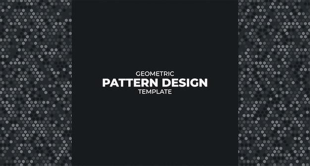 Modèle de conception de motif géométrique moderne