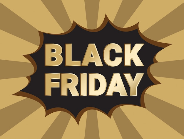 Modèle de conception noir vendredi vente bannière mise en page.