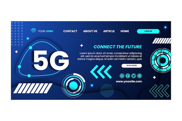 Modèle de conception de page de destination 5g