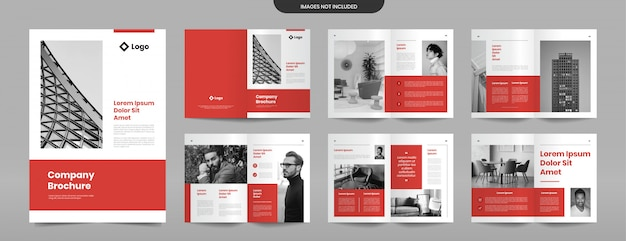 Modèle de conception de pages de brochure d'entreprise moderne