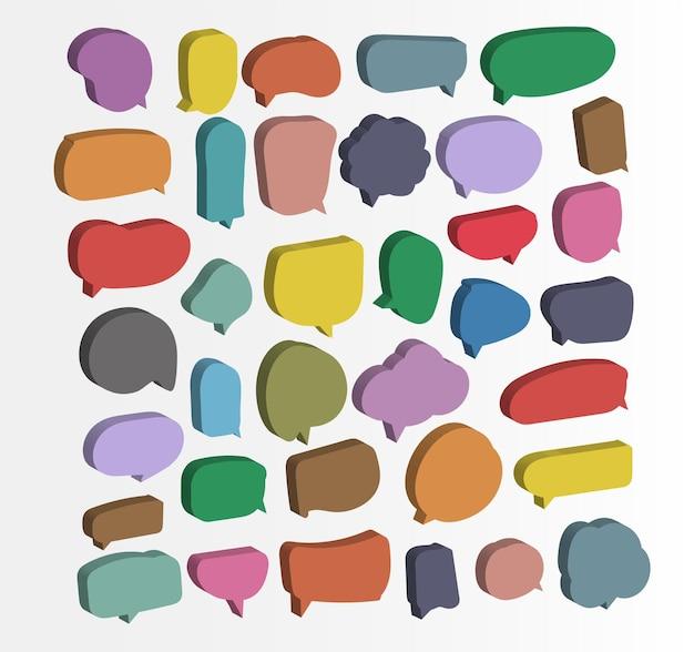 Modèle de conception de papier découpé à bulles colorées