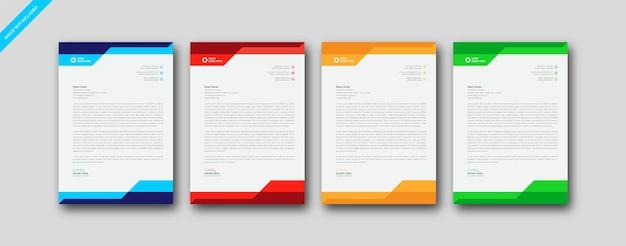 Modèle de conception de papier à en-tête a4 de société d'entreprise moderne