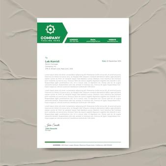 Modèle de conception de papier à en-tête d'entreprise moderne, identité d'entreprise, papier à en-tête d'entreprise, papeterie